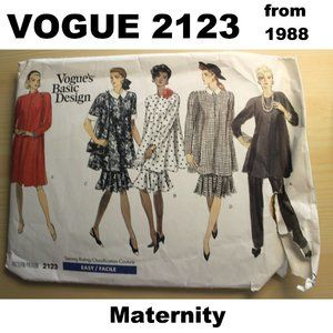CUT VOGUE 2123 sewing pattern for maternity suit